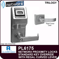 Alarm Lock Trilogy PL6175 - NETWORX PROXMITY DIGITAL LOCKS - Standard Key Override with Regal Curved Lever
