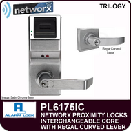 Alarm Lock Trilogy PL6175IC - NETWORX PROXMITY DIGITAL LOCKS - Interchangeable Core with Regal Curved Lever