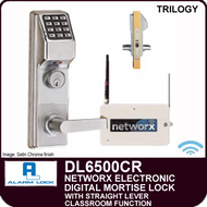 Alarm Lock Trilogy DL6500CR - NETWORX ELECTRONIC DIGITAL MORTISE LOCKS - Straight Lever CLassroom Function