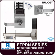Alarm Lock Trilogy ETPDN Series - NETWORX PROXIMITY EXIT TRIM - Regal Curved Lever