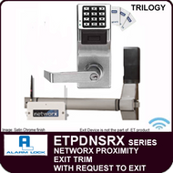 Alarm Lock Trilogy ETPDNSRX Series - NETWORX PROXIMITY EXIT TRIM - Staight Lever w/request to exit and DPS