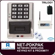 Alarm Lock Trilogy NET-PDKPAK - NETWORX WIRELESS KEYPADS AND NETPANEL - Digital & HID wireless wall mounted keypad kit