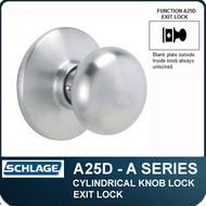 Schlage A25D- Standard Duty Commercial Exit Knob Lock