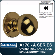 Schlage A170 Standard Duty Commercial Single Dummy Knob