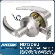 Schlage ND12DEU - Heavy Duty Electrically Unlocked (Fail Secure) Lever Lock