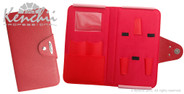 Red Faux Leather 5-scissor Snap Case