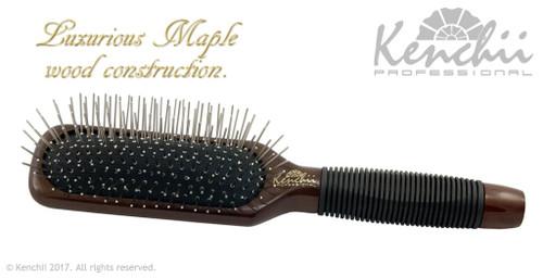 Kenchii Oblong Metal Pin Brush front view.