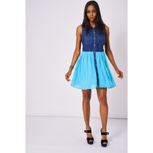Modern Outfitters | Two Tone Denim Dress with Contrast Skirt