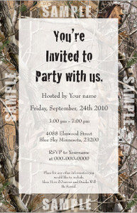 Realtree AP Invite Qty 24 invite w/envelopes Custom imprinted with Black text You choose the email the verse you want