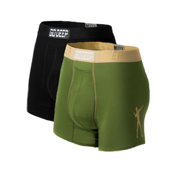 Double Pack set of Dual-Climate™ Underwear Boxers 2BLKXGNK