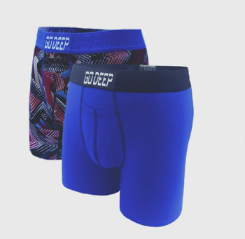 Double Pack set of Dual-Climate™ Underwear Boxers 2BRBXBLUBLK
