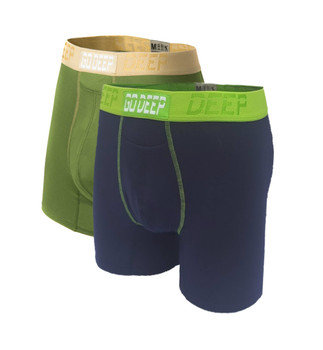 Double Pack set of Dual-Climate™ Underwear Boxers 2GRNXNAVBLUGRN