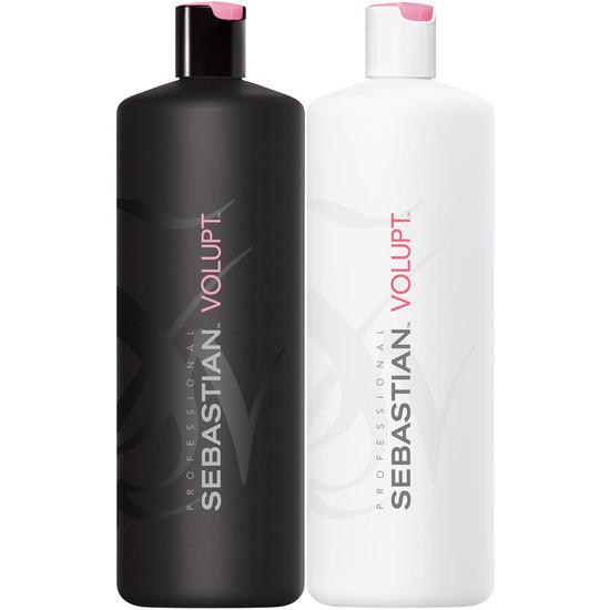 sebastian volupt shampoo and conditioner liter duo