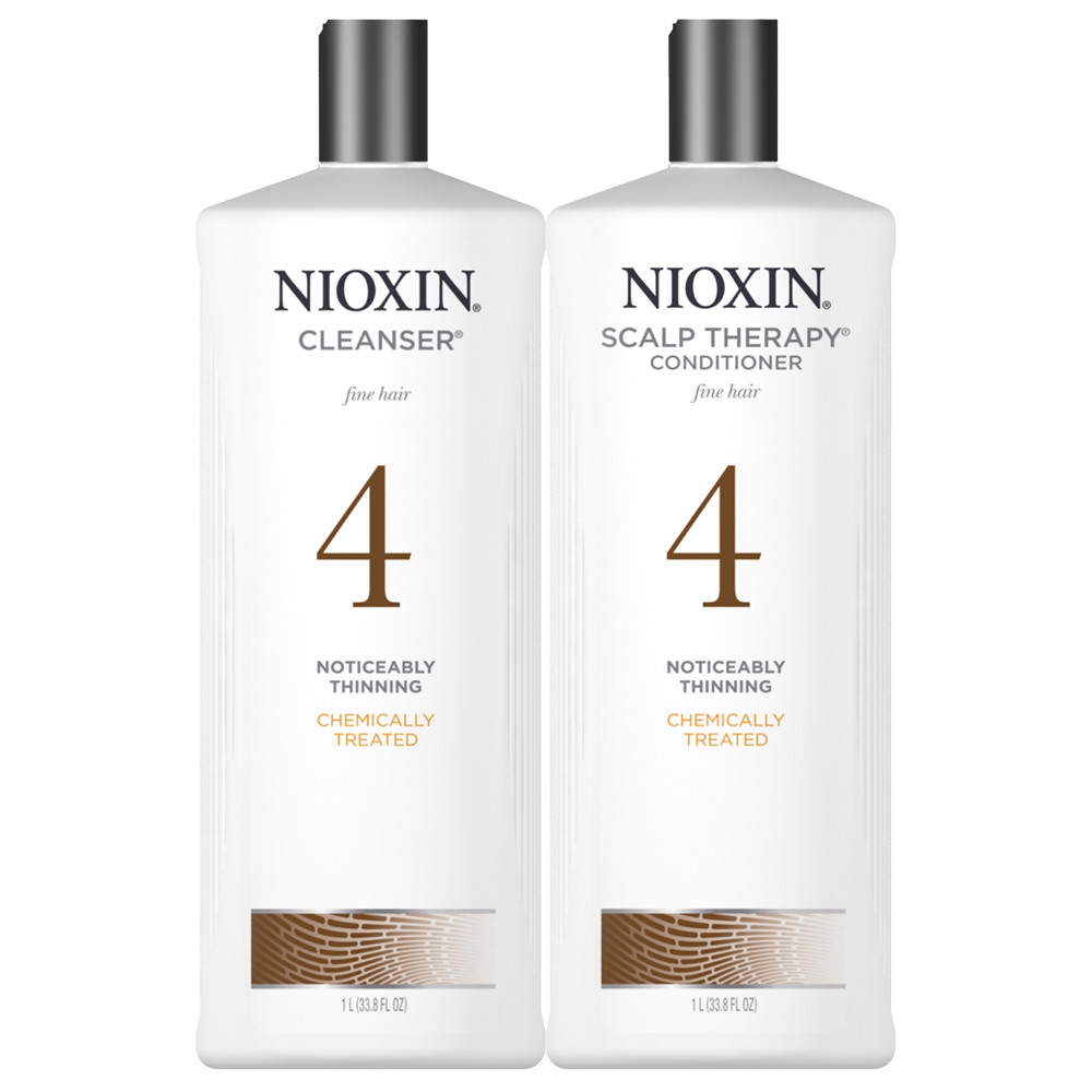 Nioxin System 4 Shampoo Amp Conditioner Ltr Glamazon Beauty