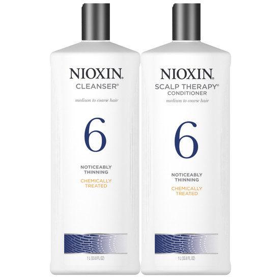 Nioxin System 6 Shampoo And Conditioner Duo 33 Oz Free