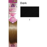 "hair couture clip&go 18"" 6pc hair extensions"