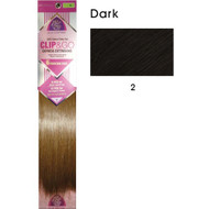 "hair couture clip&go 18"" 6pc hair extensions 3"