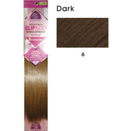 "hair couture clip&go 18"" 6pc hair extensions 5"