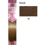 "hair couture clip&go 18"" 6pc hair extensions 6"