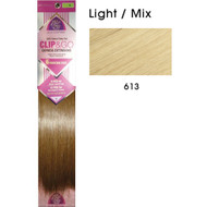 "hair couture clip&go 18"" 6pc hair extensions 8"