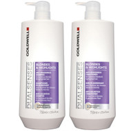 goldwell dual senses blondes & highlights shampoo & conditioner duo 25 oz