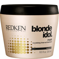 redken blonde idol mask for damaged blonde color treated hair and natural blonde hair.