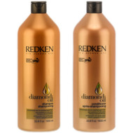 redken diamond oil shampoo and conditioner duo oil enriched care for dull, damaged hair