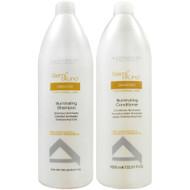 Alfaparf Milano Semi Di Lino Diamond Illuminating Shampoo and Conditioner Liter  Duo