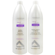 Alfaparf Milano Semi Di Lino Moisture Shampoo and Conditioner Liter Duo