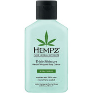 hempz triple moisture herbal whipped body crème 2 oz
