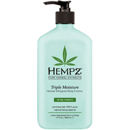 hempz triple moisture herbal whipped body crème 17 oz