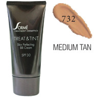 sorme treat and tint skin perfecting bb cream medium tan 732