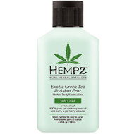 hempz exotic green tea & asian pear herbal body moisturizer 2 oz