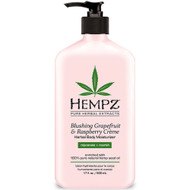 hempz blushing grapefruit & raspberry crème herbal body moisturizer 17 oz
