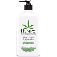 hempz fresh coconut & watermelon herbal body moisturizer 17 oz