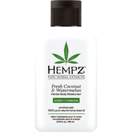 hempz fresh coconut & watermelon herbal body moisturizer 2 oz