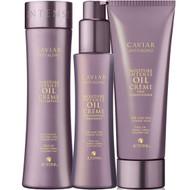 Alterna Caviar Moisture Intense Oil Creme Shampoo, Conditioner And Pre-Shampoo Treatment Trio