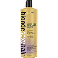 Blonde Sexy Hair Bright Blonde Violet Shampoo for Blonde, Highlighted and Silver Hair 33.8oz