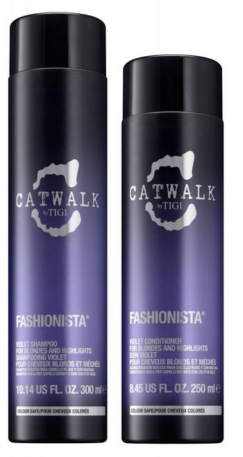 Tigi Catwalk Fashionista Violet Shampoo & Conditioner Duo 10.14oz / 8.45oz