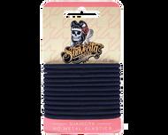 Suavecita Elastic Hair Bands Black (12 Bands)