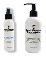Gentlemen Republic After Shave 4oz and Shaving Gel 8oz Duo