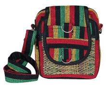 "P9-7  -  Bamboo Rasta 5 Pocket Hand Bag 6"" x 8"""
