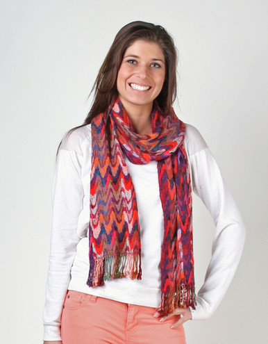 Beautiful scarf with great texture and vivid colors