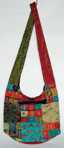 "H6-5  -  Stitch Hobo Bag Assorted Colors 14"" X 12"""
