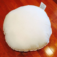 "17"" Round Polyester Woven Pillow Form"
