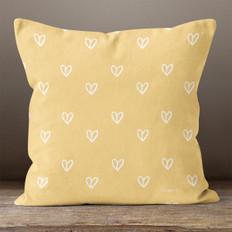Gold Hearts Throw Pillow