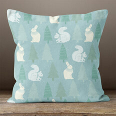 Light Blue Arctic Nature Throw Pillow