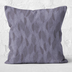 Lavender Feathers Throw Pillow
