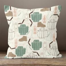 Ivory Wilderness Adventure Throw Pillow