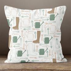White Gardener's Dream Throw Pillow
